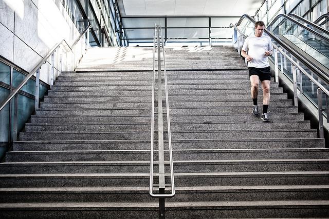 Antrenament, alergarea pe trepte