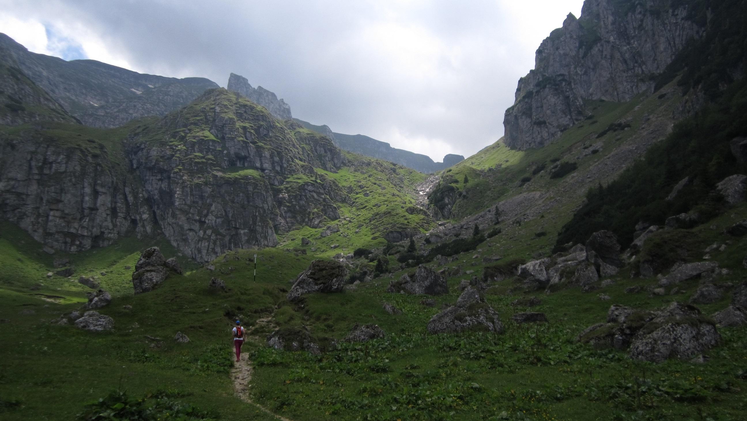 Plimbare – alergare in Bucegi, la deal spre hornuri