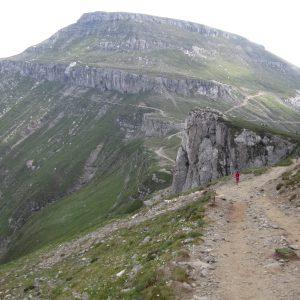 Plimbare – alergare in Bucegi, coborarea spre cabana Babele