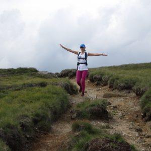 Plimbare – alergare in Bucegi, Eliza in zbor spre Piatra Arsa
