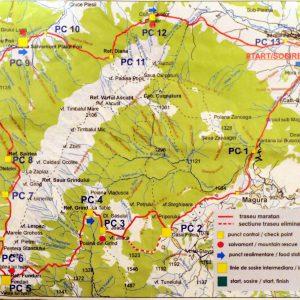 MPC 2013, harta traseu