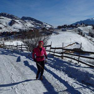 Alergare de iarna in Crai, prin Magura