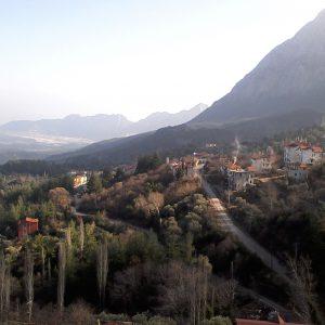 Alergare in Antalya, marea si Antalya in stanga sus