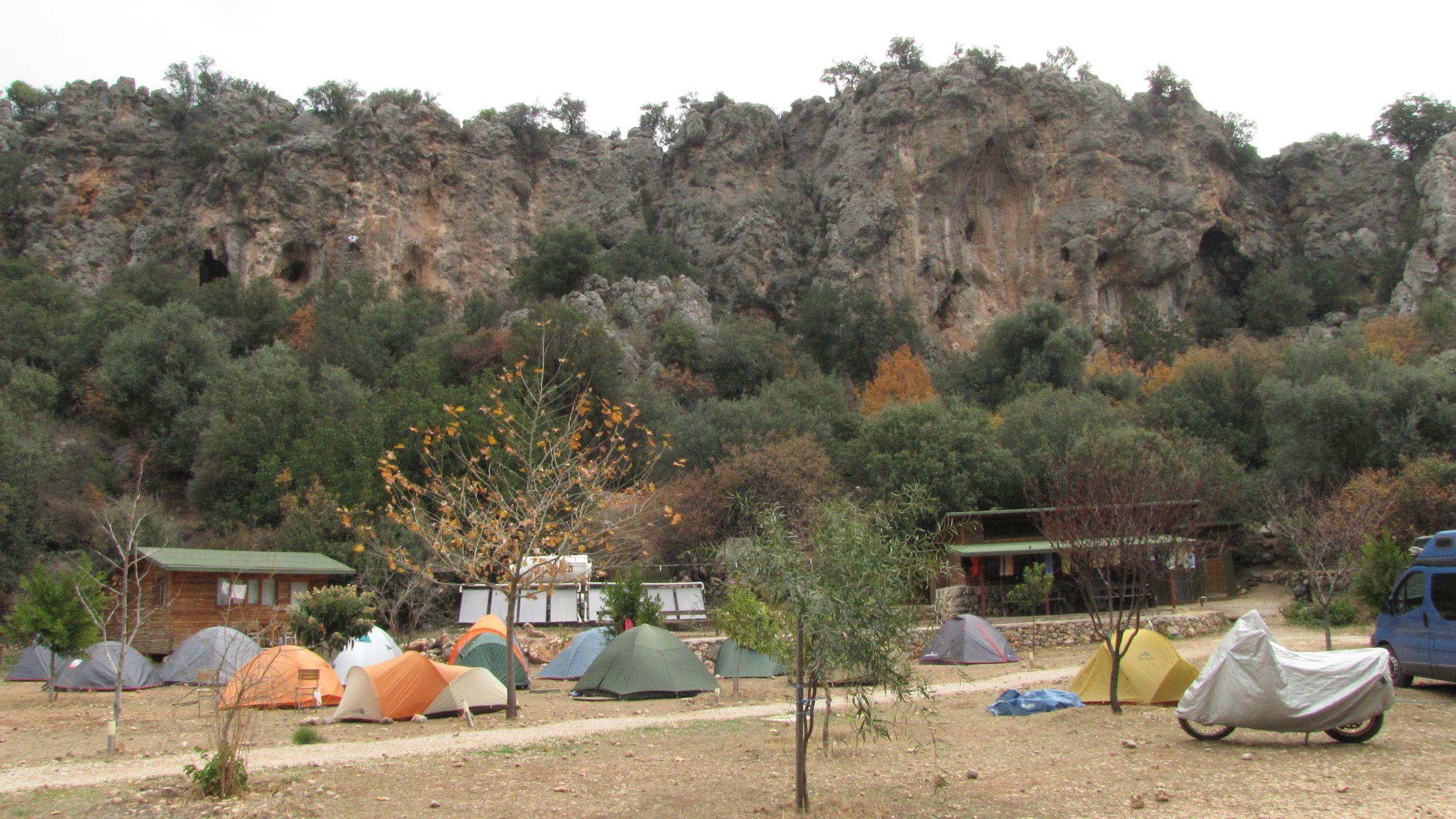 Escalada in Antalya, vedere din camping