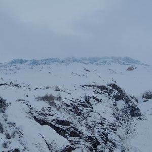 Ski in Chamonix, ghetar vazut de pe partie din Le Tour