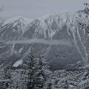 Alergare prin Chamonix, dupa ninsoare
