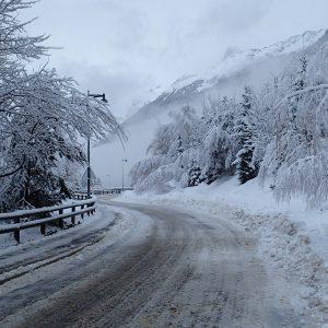 Chamonix, ninsoare proaspata de zi