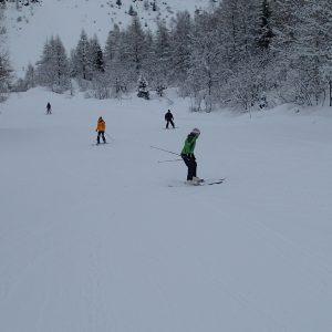 Ski in Chamonix, Gloria si Eliza pe o partie albastra in Le Tour