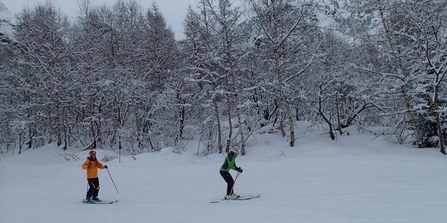 Ski in Chamonix, Gloria si Eliza la intrecere
