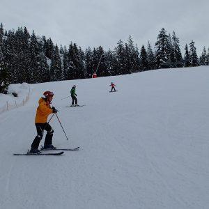 Ski in Chamonix, pe partie albastra in Passy