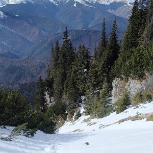 MPC de iarna in regie proprie, coborare pe Valea Urzicii