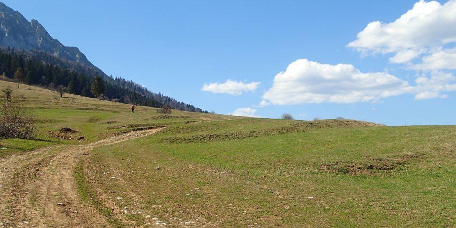 La dat din picioare in Piatra Craiului, spre valea Crapaturii