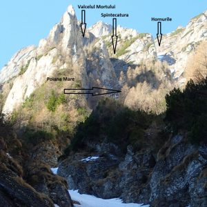 Valea seaca a Caraimanului prin hornuri, indicatii