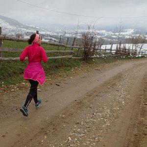 Zarnesti - Moeciu in alergare, coborarea spre Moeciu