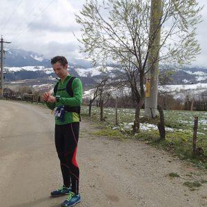 Zarnesti - Moeciu in alergare, pauza de baut ceai