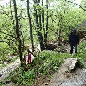 Weekend prin Zarnesti, Magura si Pestera - la intrarea in pestera