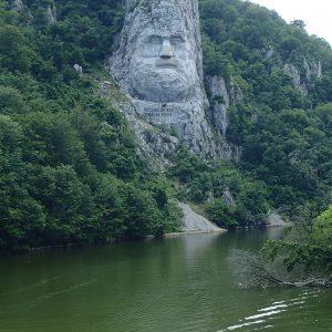 Cazanele Dunarii - sculptura Decebal