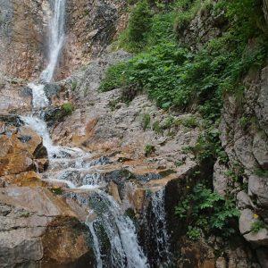 Ture de alergare prin Bucegiul vestic, cascada Moara Dracului