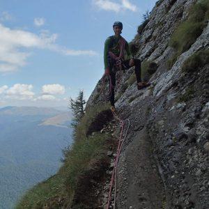 Creasta Costila-Galbinele, traversarea stanga din prima lungime