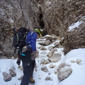 Tentativa pe Canionul Cioranga, inainte de prima saritaore