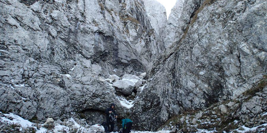 Tentativa pe Canionul Cioranga, intrarea in traseu