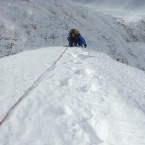 Blidul Uriasilor de iarna, varianta directa - inainte de urcarea verticala care mi s-a parut pasul traseului