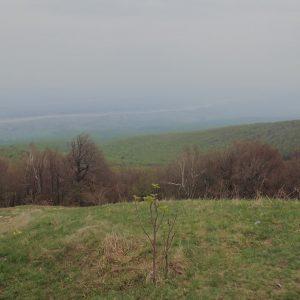 Alergare prin muntii Vrancei, poza de varf cu raul Putna pe fundal