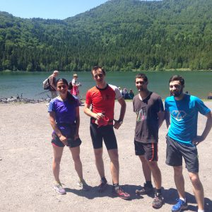 Alergare prin zona lacului Sf. Ana, la lac
