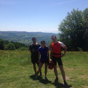 Alergare prin zona lacului Sf. Ana, punct de panorama cu vedere spre Bixad