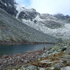 Alergare prin muntii Tatra, al doilea lac glaciar pe care l-am intalnit
