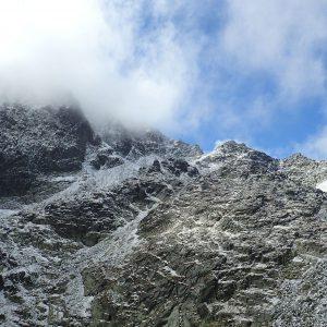 Alergare prin muntii Tatra, vedere spre partea de N
