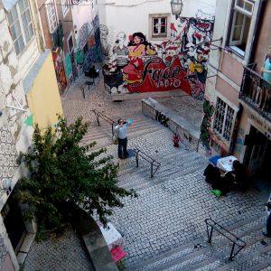 Alergare prin Lisabona, printre case