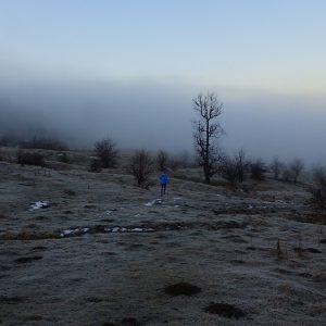 Alergare prin Câmpina, Bogdan, coborare in ceata