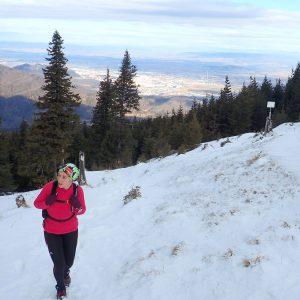 Alergare de iarnă în Piatra Mare, ultimii pasi spre cabana