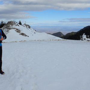 Alergare de iarnă în Piatra Mare, si o poza cu mine