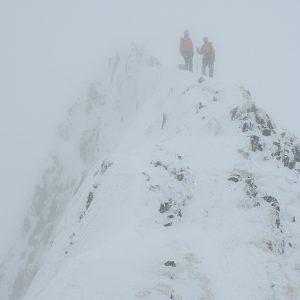 Încercări prin Făgăraş, Alin si Nana pe urcarea spre Buteanu