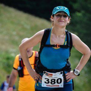Cozia Mountain Run 2016, Eliza pe urcarea spre manastirea Stanisoara