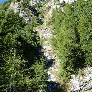 Alergare aeriană prin Bucegi, urcarea spre Brana Aeriana