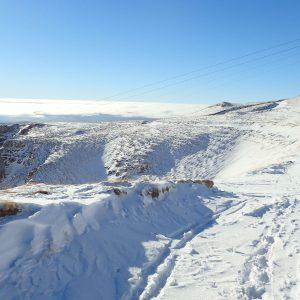 Alergare de iarnă Sinaia - Babele, curba de nivel ce ocoleste Vf. Furnica