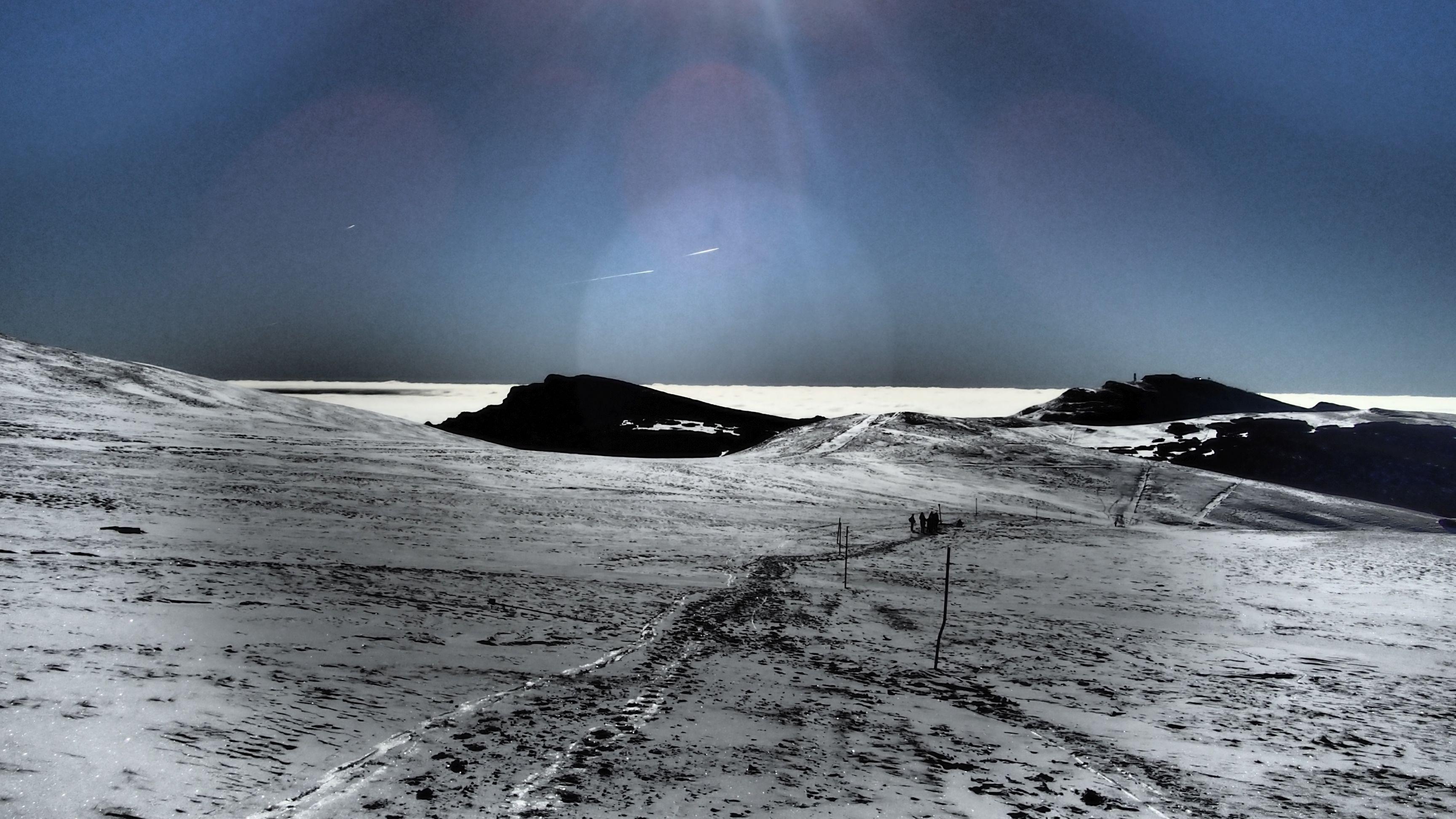 Alergare de iarnă Sinaia - Babele, vedere spre Cota 2000 dinspre urcarea spre Babele