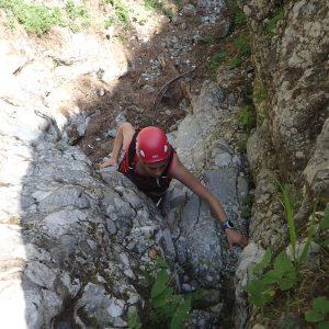 Căţărătură pe Valea Seacă dintre Clăi, alta saritoare