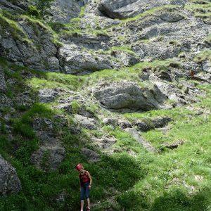 Căţărătură pe Valea Seacă dintre Clăi, pe Brana lui Raducu