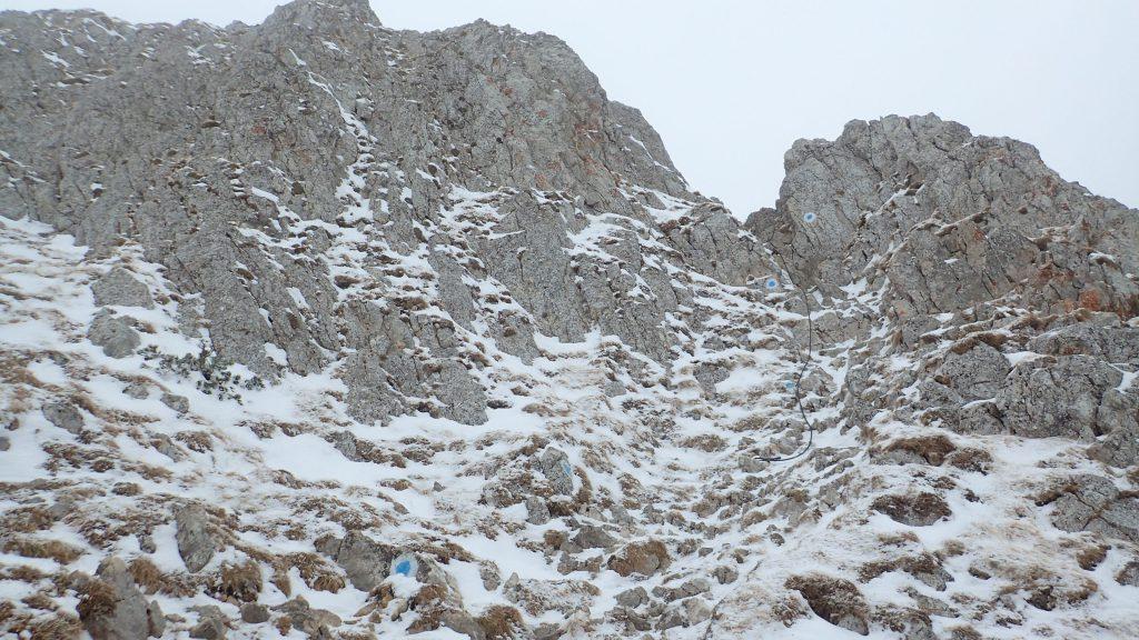 Urcarea spre Piatra Mica