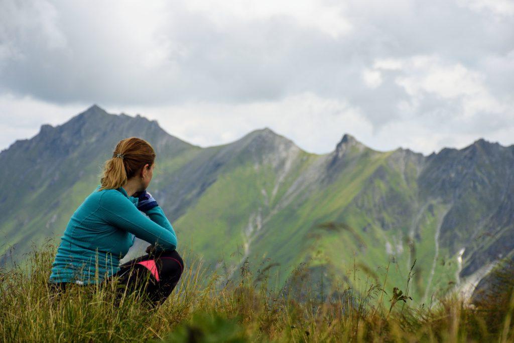 Ioana captiva peisajului de pe vf. Baisstein