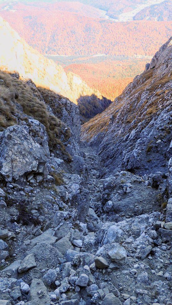 La intrarea pe Valea Alba