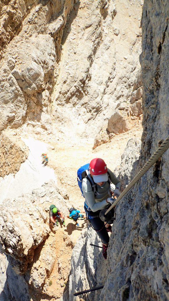 Ioana negociind urcarea traseului