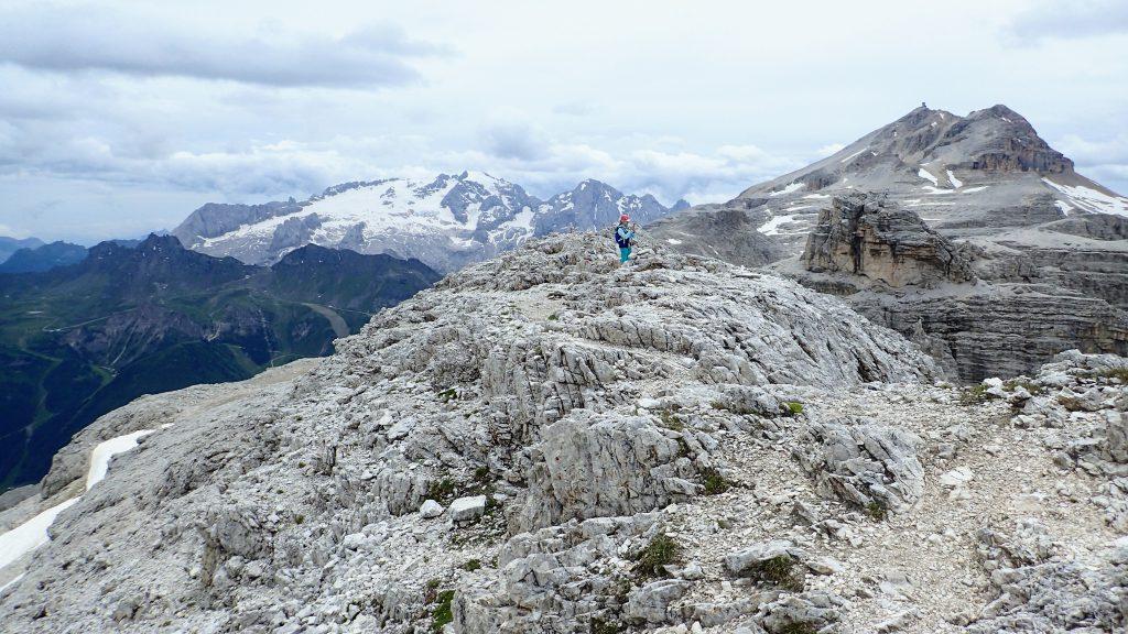 Cu cativa metri inainte de varful Piz da Lech