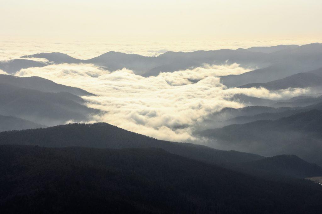 Marea de nori de la nivelul podisului