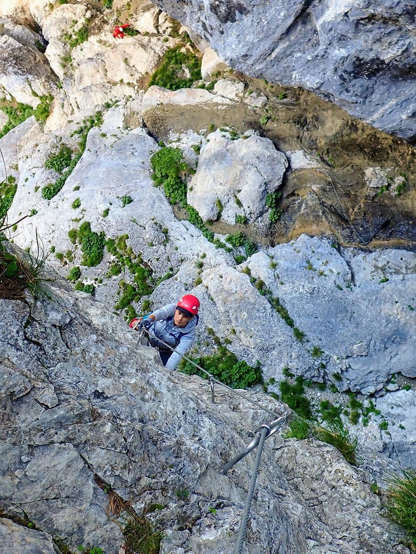 Urcarea verticala dupa traversare