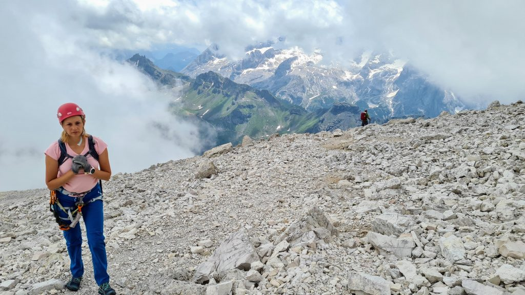 Ultimii metri înainte de Piz Boe (3152m)